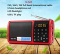 SAST N520 Цифровой Мир Full Band fm am sw Радио Мини TF USB MP3 Диктор Портативный СВЕТОДИОДНЫЙ Фонарик С 18650 Аккумулятор