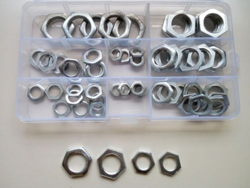 60pcs M8 M10 M12 M14 M16 M18 M20 Thin Nuts Hex Nut Hexagon Sleeve Sleeves Kits