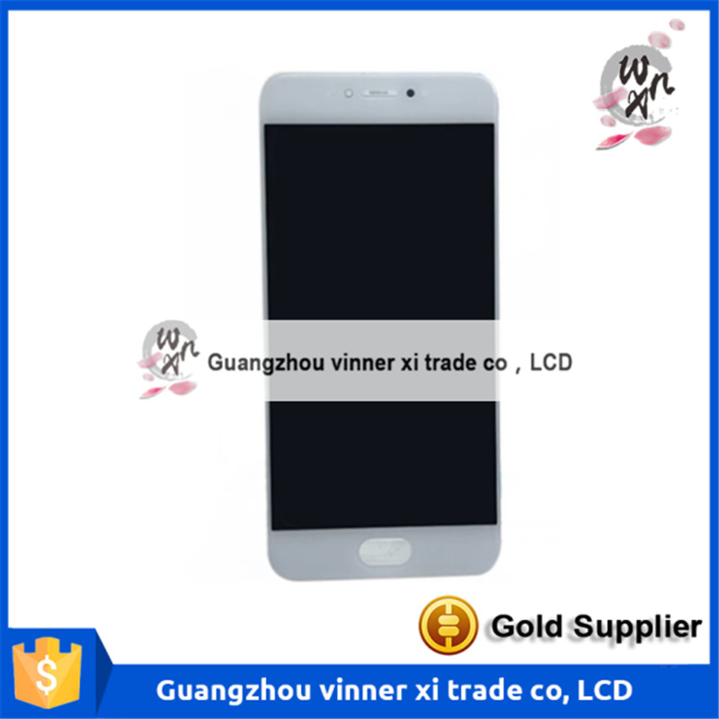 New LCD Display + Touch Digitizer Screen Glass For Meizu Pro6 White/Black Color 5.2inch Free Shipping