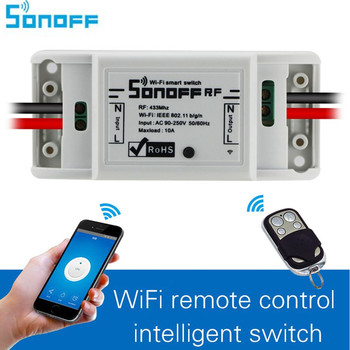SONOFF RF WiFi Wireless Switch Interruptor 433Mhz RF Receiver Intelligent DIY Remote Wireless Control For Smart Home 10A