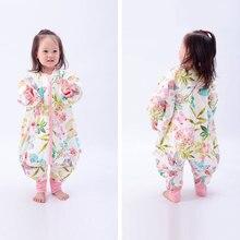 Winter sleeping bags newborn child thicken jumpsuits kids cartoon animals play quilt cotton pajamas warm Prevention