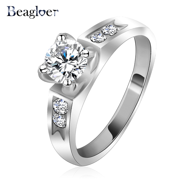 Free Shipping Asian Wedding Rings Rose Gold Silver Color Couple