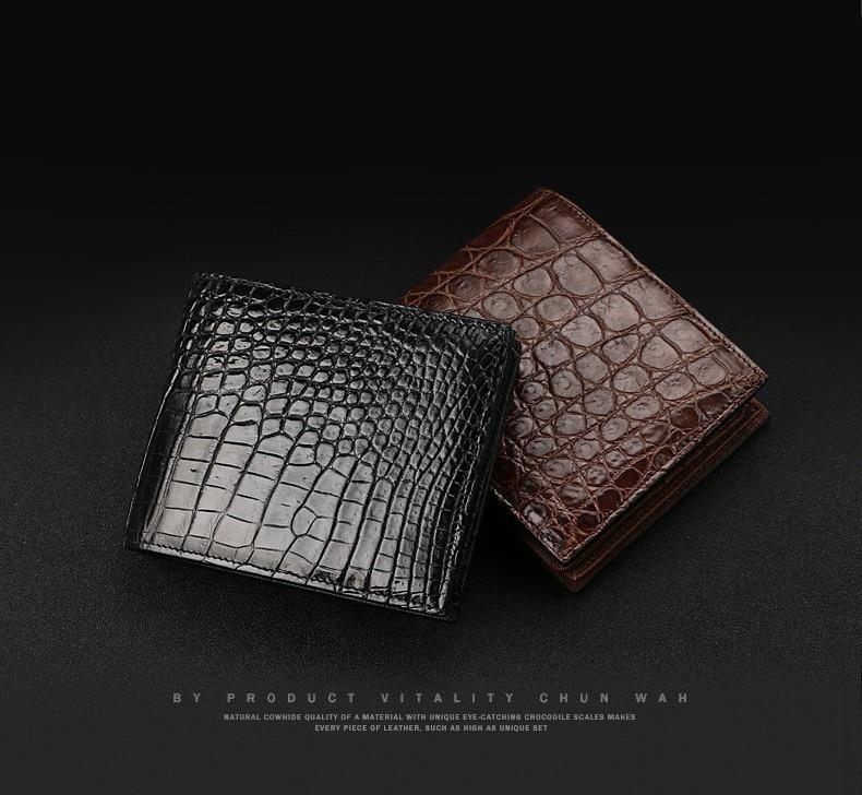 homens de luxo couro genuíno pequena carteira