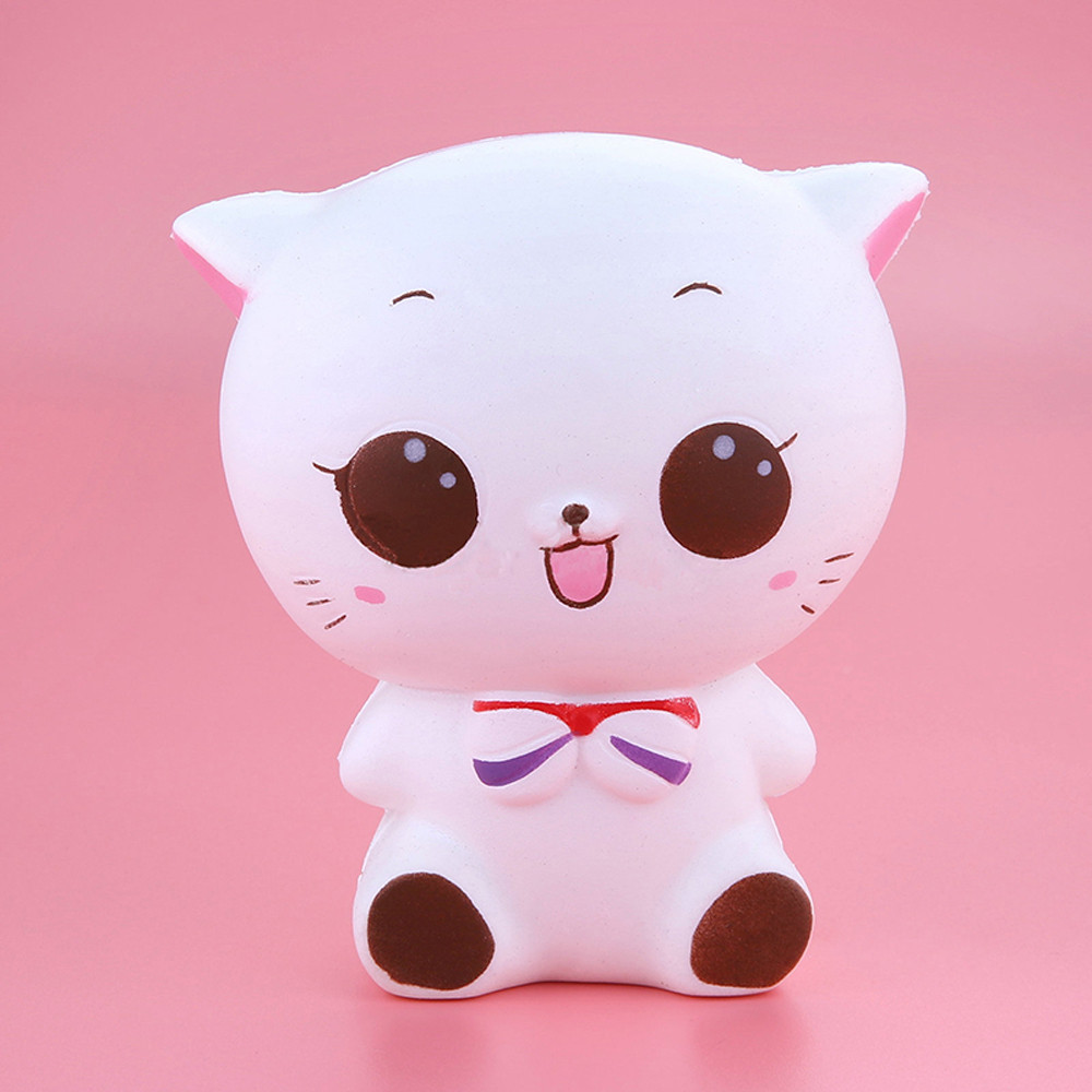 Squishy Kitty Cat Doll Slow Rising Squishies Animals Soft Pinch Stress Reliever Kid Squeeze Toy Juguetes