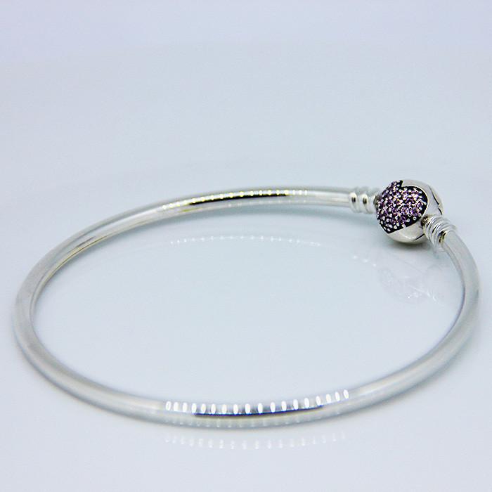 925 Sterling Silver Sweet Heart Carter Love Bracelet With Clear CZ Bangles For Women Carter Bracelet Fine 925 Silver Jewelry FLB006 (2)