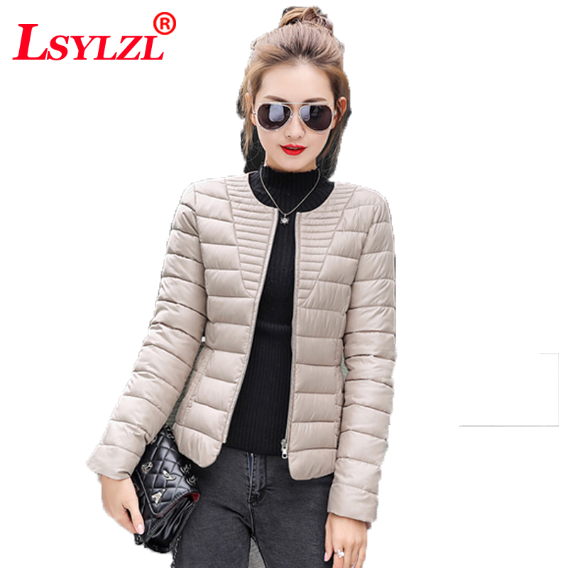 2018 Fashion Ultralight Parka Winter Jacket Women Unique Style Quilted Coat Short Warm Thin Padded Outwear Snow Wear B858 Meticulous Dyeing Processes