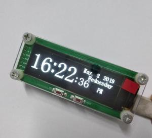 """Image 5 - GHXAMP 2 дюймовый OLED музыкальный спектральный Модуль Индикатор уровня VU Meter автомобильный компьютер модификации MP3 DVD MP4 MP5 Телефон """"сделай сам"""" время 5 в постоянного тока"""