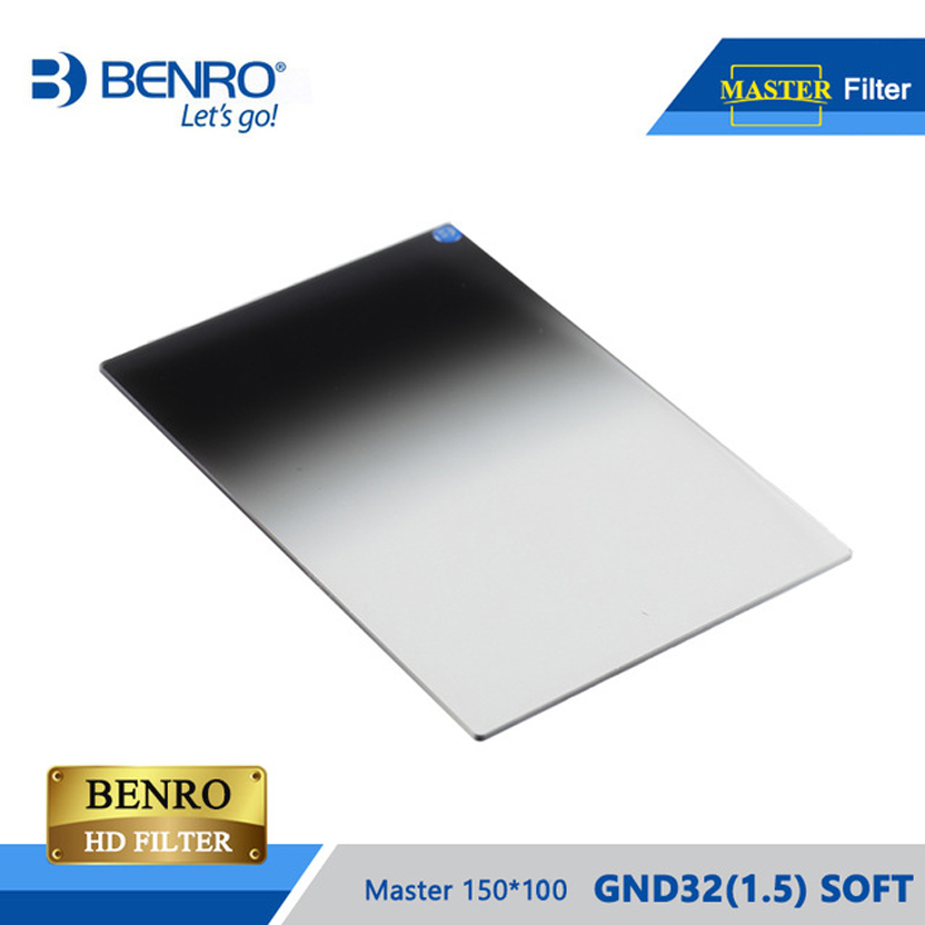BENRO Master GND32(1.5) SOFT 100*150 Filter Square HD Glass WMC ULCA Coating GND Filter High Resolution Filter Free Shipping benro 52mm shd cpl hd ulca wmc slim waterproof anti oil anti scratch circular polarizer filter free shipping eu tariff free