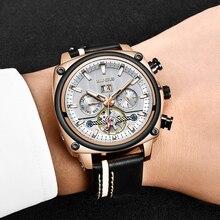 2019 LIGE Men Fashion Luxury Watch Tourbillon Sport Mechanical Classic Automatic Wrist Watches Montre Homme