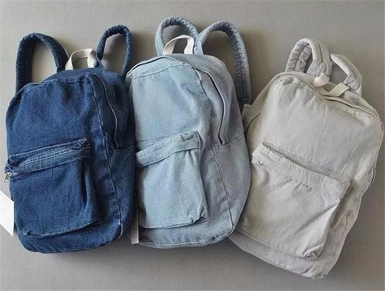 HTB1AXItKpXXXXX0aXXXq6xXFXXX2 - Denim backpack school bags for girls deep blue and light blue