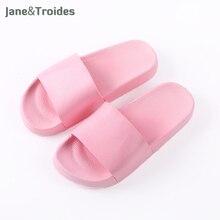 Летние домашние ПВХ женские тапочки Ванны одноцветное Цвет утепленные Нескользящие Вьетнамки повседневные домашние сандалии для прогулок Модная женская обувь
