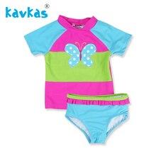 Купальный костюм Kavkas для девочек, новинка, Летний стиль, Бикини для детей, купальный костюм, Детские танкини, купальный костюм, пляжная одежда, купальник для новорожденных
