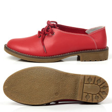 Genuine Leather Women Oxford Shoes