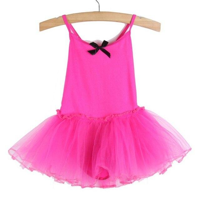 Летние Девушки Балетная Пачка Танцы Платье Дети Купальник Без Рукавов Платья Для 2-7 Лет