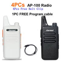 4PCs AIRFREE AP 100 Ultra Thin Mini Walkie Talkie Better Than BF 888S UHF Long Range