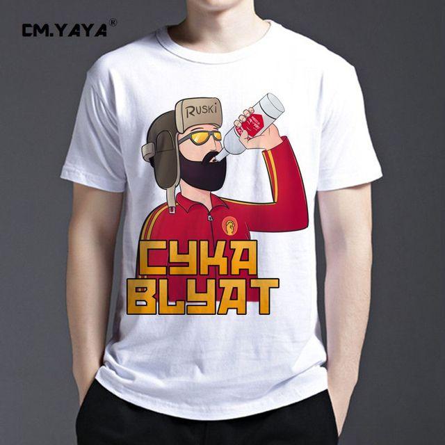 Nieuwe Size Euro Blyat Cyka Art Gedrukt 2016 3d CmYaya Mannen Mode mOv8wN0yn
