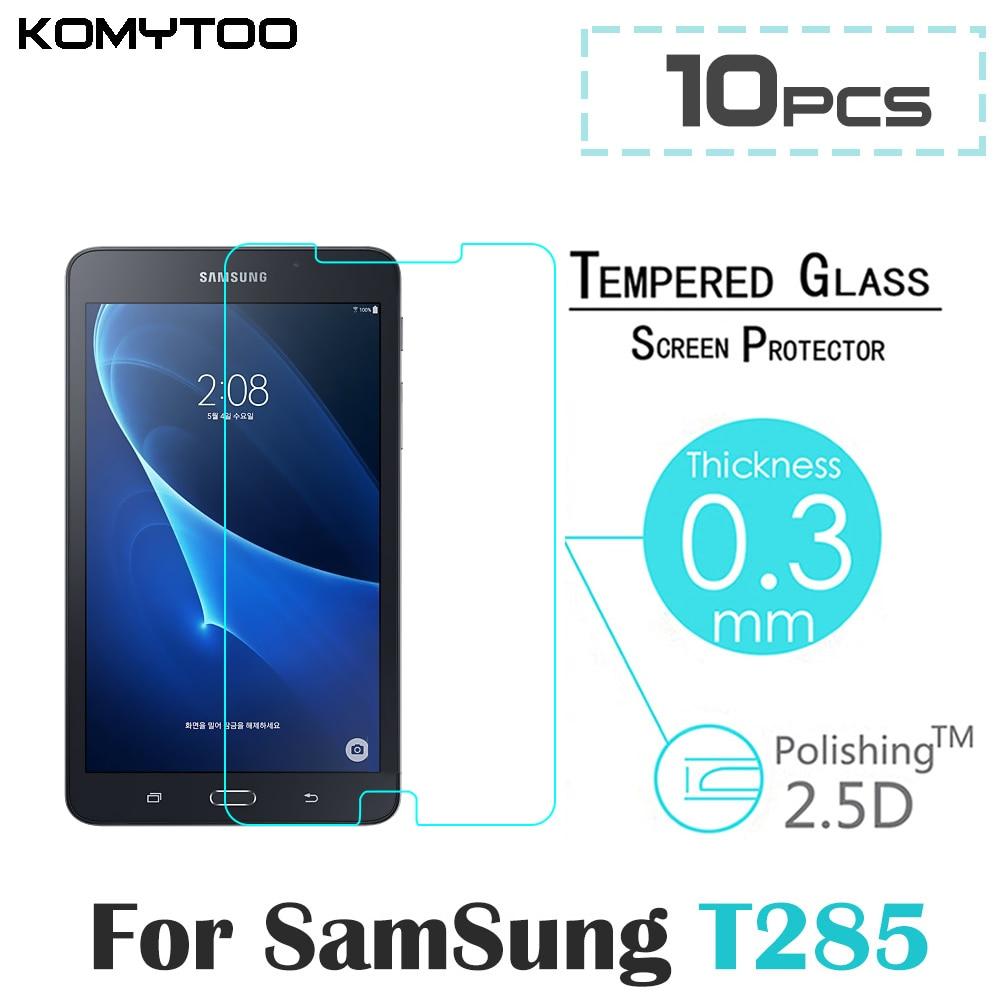 """bilder für 10 stücke T285 9 H 2.5D Explosionsgeschützte Toughened Ausgeglichenes Glas Für Samsung Galaxy Tab Ein (2016) T285 T280 7 """"Film Displayschutzfolie"""