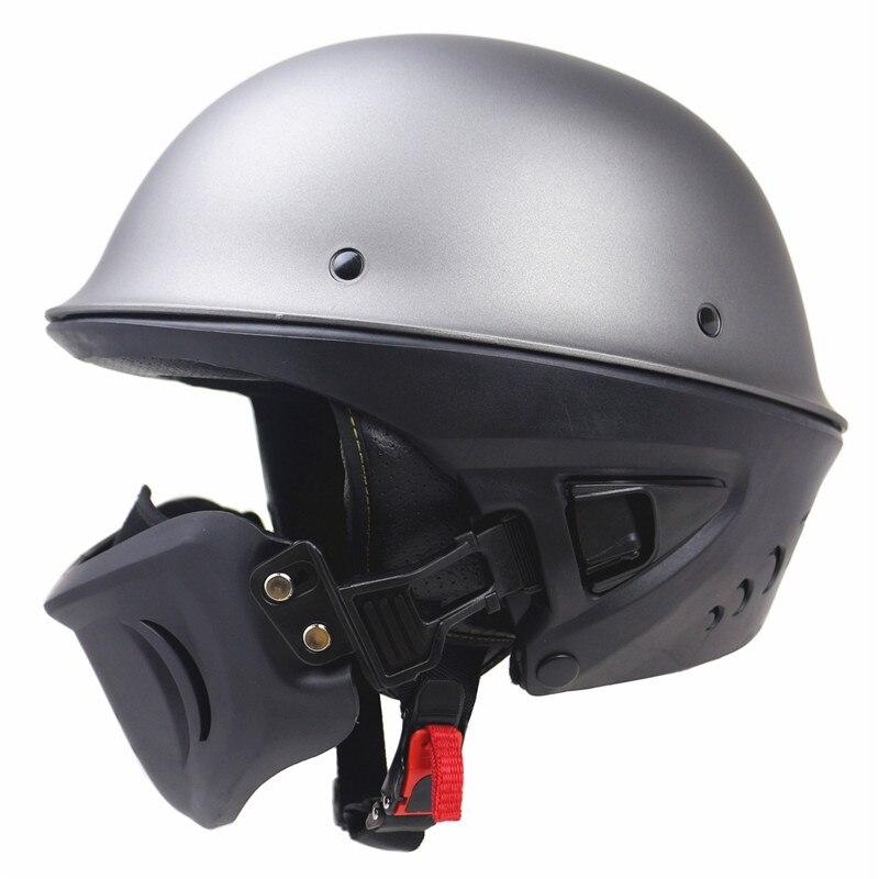 Zombies Racing Rouge Casque DOT approuvé moto casque Avec masque Détachable design beau et sécurité casque ouvert