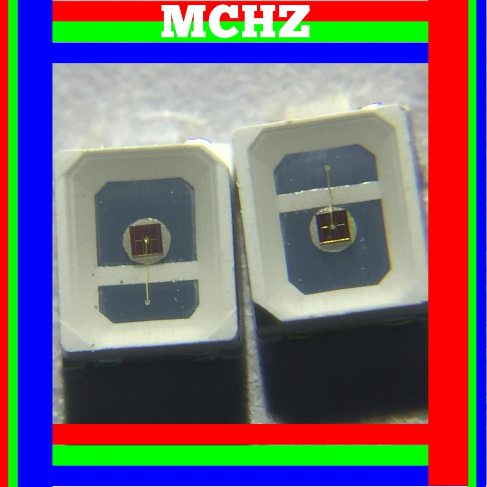 200pcs/lot SMD <font><b>LED</b></font> <font><b>2835</b></font> lamp beads highlight 0.5W <font><b>150ma</b></font> 2V-2.6V red 640nm light-emitting diode Plant lamp beads image
