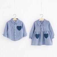 2019 летняя большая сестра семья Одежда одинакового дизайна одежды одежда, подходящая для всех семейная одежда рубашка для мальчиков и девоч...