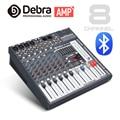 Хорошее качество  чистый звук! 8 каналов 360 Вт усилитель мощности миксер цифровой аудио dj контроллер с 48В Phantom Power USB слот