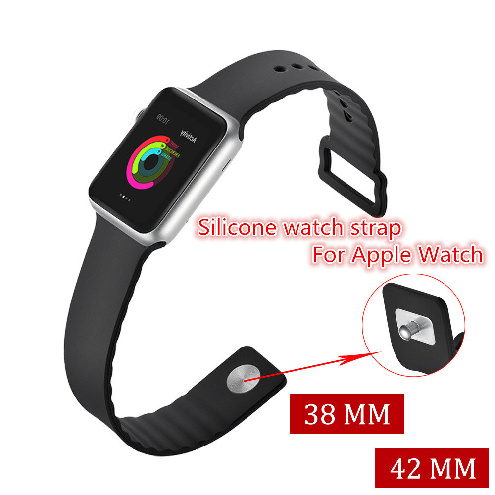 Sport Silicone Watch strap For Apple Watch band 42 mm 38 mm Wrist bracelets Rubber strap for iwatch 3 2 1 Metal Buckle watchband sport silicone strap for apple watch band 42 38 mm bracelet wrist band watch watchband for iwatch nike 3 2 1
