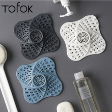 Tofok Kitchen Gadgets Bathroom Accessories Outfall Drain Cover Basin Sink Strainer Filter Sieve Shower Hair Catcher Stopper Plug