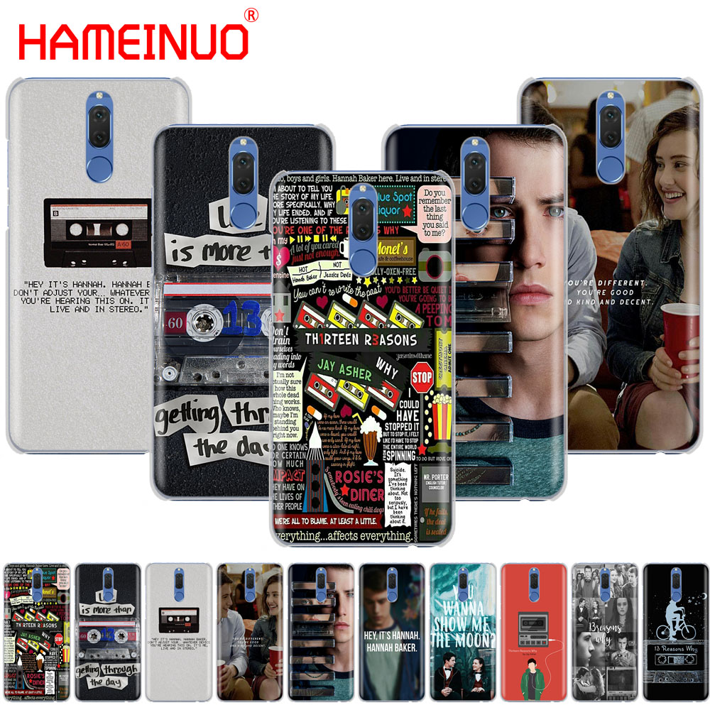 HAMEINUO Thirteen 13 Reasons Why Quotes Cover phone Case for Huawei NOVA 2 2S 3e PLUS LITE P smart enjoy 7s mate 7 8 9 10 pro