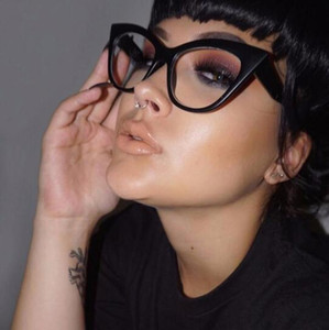 LongKeeper 2019 New Cat Eye Glasses Frame Women Brand Designer Cateye Optical Eyeglasses Ladies Fashion Retro Clear Glasses