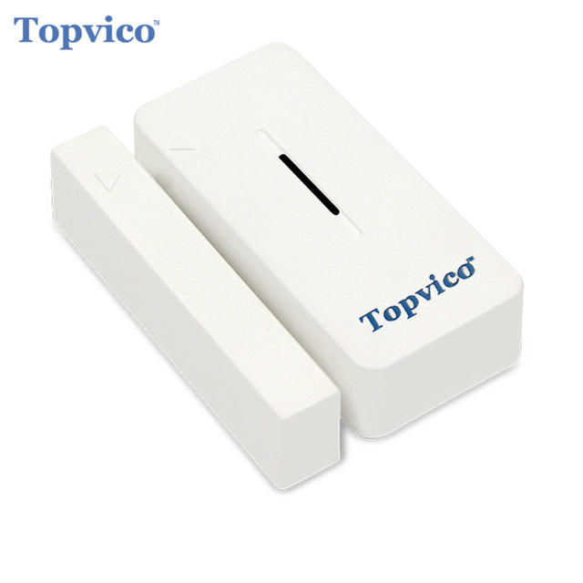 Topvico Z wave Door Sensor Alarm Detector Z Wave Plus Smart Home Automation Wireless House Safety Alarm System Security