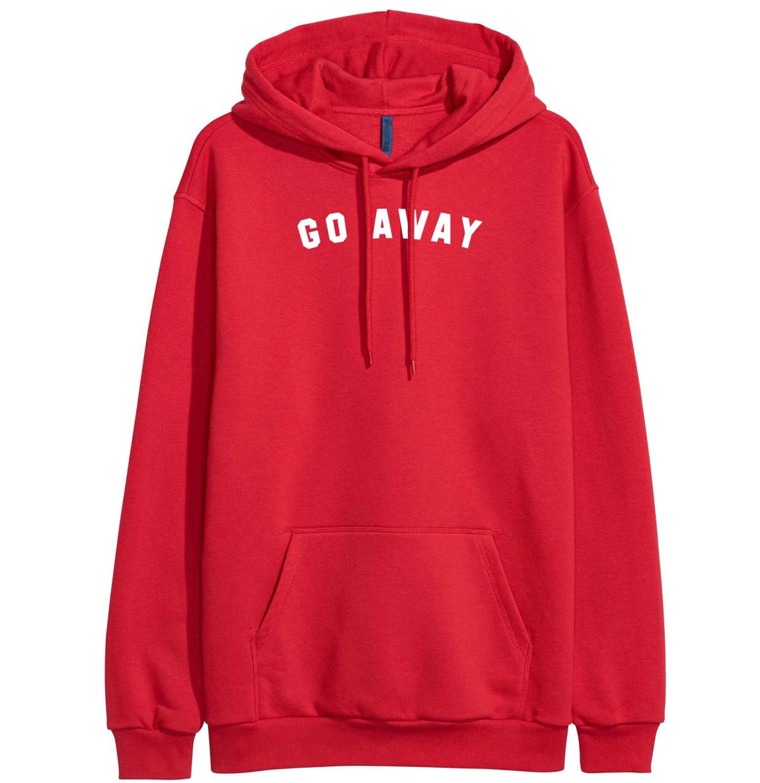 Go Away Print Women's Hoodies Sweatshirts 2019 Spring Winter Fleece Brand-Clothing Hoody For Women Crossfit Pullover Female Kpop