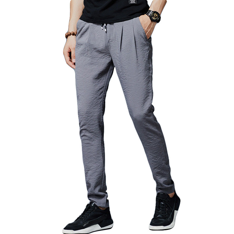 Trousers Male Haroun-Pants Slim-Fit Business Plus-Size Cotton New Straight Brand 36-38