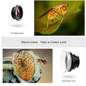 Image 4 - APEXEL Universal Makrofotografie Linsen 12 24X Super Makro objektiv für iPhone Handy kamera objektiv für Samsung Xiaomi