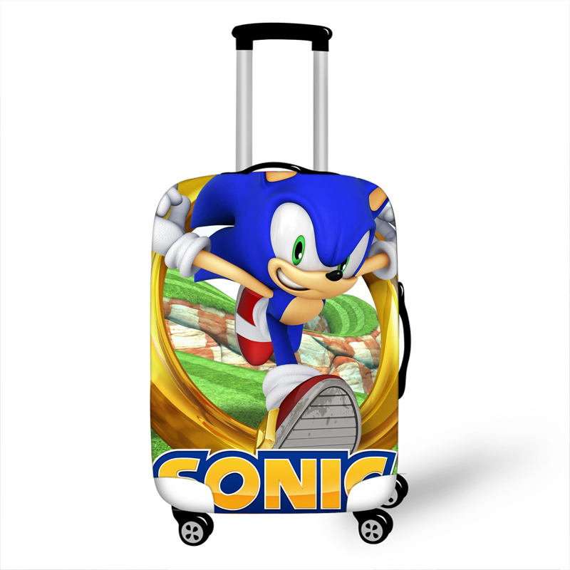 18-32 Inch Sonic Boom Hedgehogs Mario Elastic Luggage Suitcase Protective Cover Protect Dust Bag Case Cartoon Travel Cover