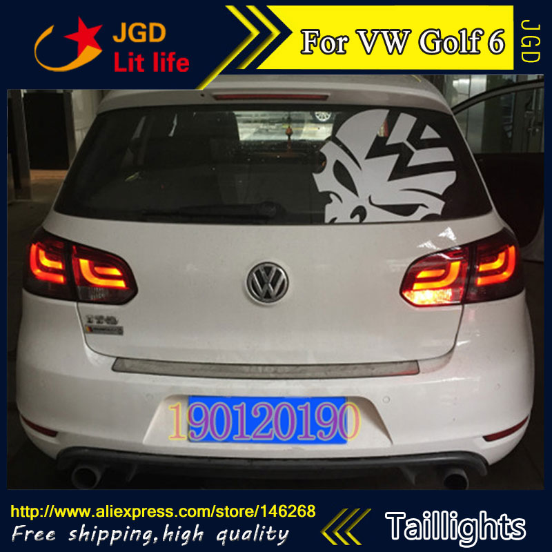 tail lights for VW Volkswagen Golf 6 2009-2013 LED taillight Tail Lamp rear trunk lamp cover drl+signal+brake+reverse car rear trunk security shield cargo cover for volkswagen vw golf 6 mk6 2008 09 2010 2011 2012 2013 high qualit auto accessories