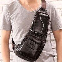 2016 Men S Vintage Genuine Leather Travel Hiking Riding Bike Messenger Shoulder Sling Chest Casual Bag