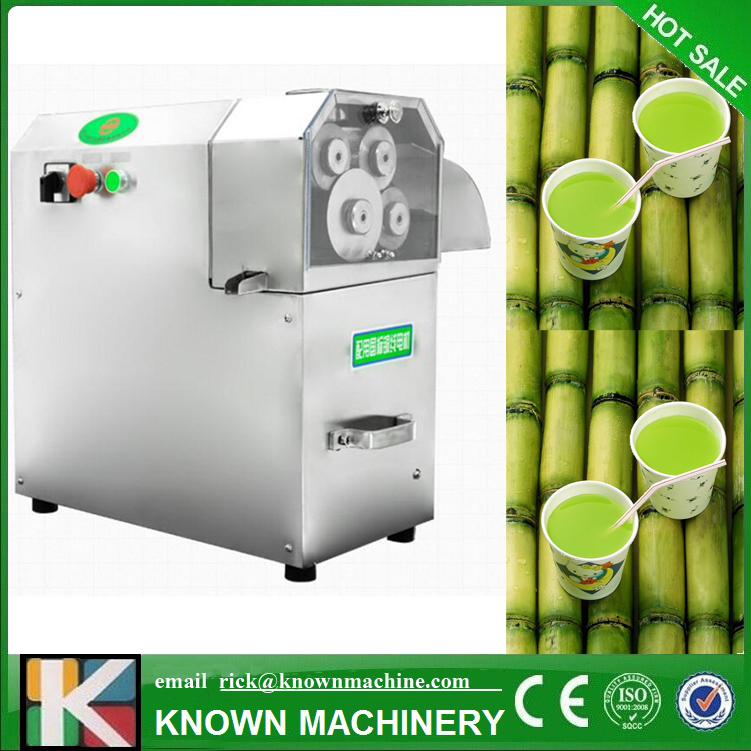 Grande sortie 3 rouleaux/4 rouleaux en option en acier inoxydable électrique canne à sucre presse agrumes machine canne à sucre presse agrumes de haute qualité