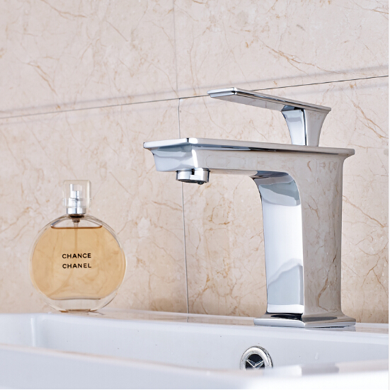 New arrival brass chrome finished bathroom single lever hot and cold sink faucet, basin tap mixer new arrival tall bathroom sink faucet mixer cold and hot kitchen tap single hole water tap kitchen faucet torneira cozinha