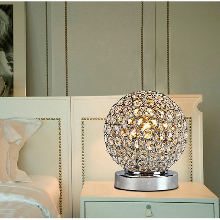 Modern Crystal Table Lamps For Bedroom,Living Room,Study,Office Modern Crystal Silver/Golden ...