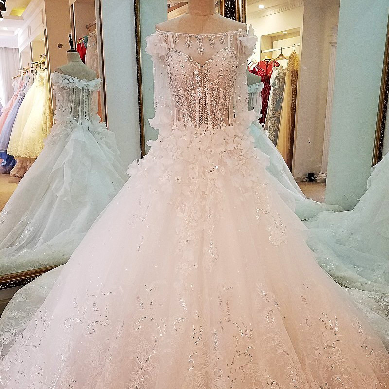 Special wedding dresses lace ball gown corset wedding dresses 2018 real wedding dress Off the Shoulder