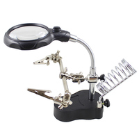 Urijk Electric Multi Function Machine Soldering Iron Holder Table Magnifying Glass