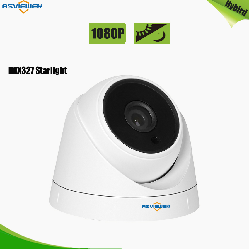 Low Noise Starvis SONY IMX327 3.6MM Lens Indoor Camera with 2pcs Array Leds and Black Glasses Night Vision Video Surveillance