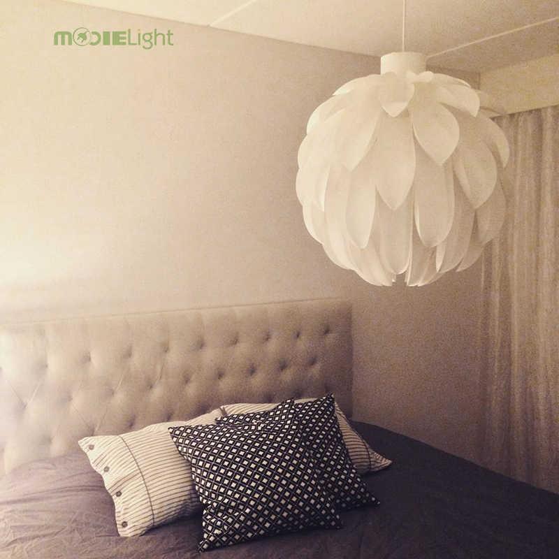Mooielight fleurs pétale lampe suspension lumières matériel PVC diamètre 50 cm Lotus bricolage Lampshape chambre/magasins luminaire LED