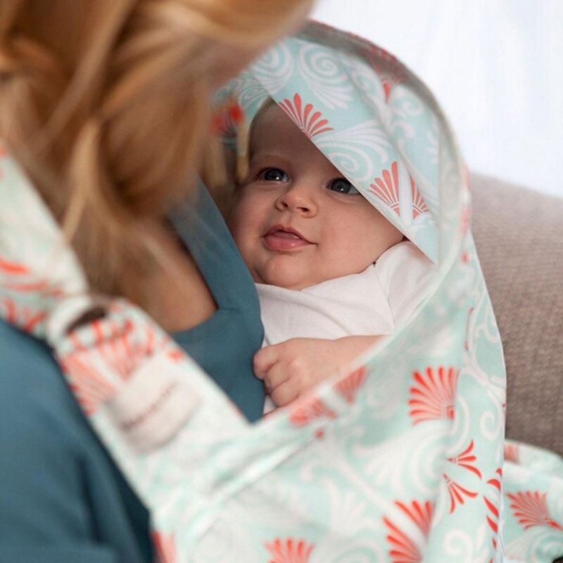 2016 Novo Projeto Abrange Amamentação Capa De Enfermagem Privacidade Infantil Algodão Respirável de Pano Do Bebê de Alimentação Do Bebê Tampa Decote