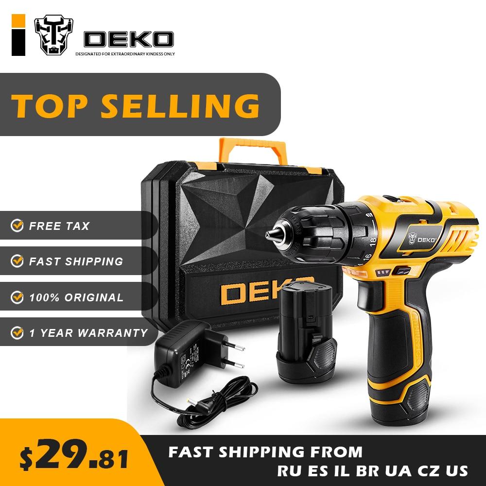 DEKO GCD10 8DU3 10 8V MAX Cordless Drill Electric Screwdriver Engraver Mini Drill Power Tools Original