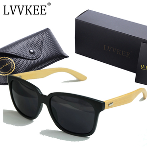 LVVKEE Brand Designer 2017 New Bamboo Legs sunglasses Women/Mens wooden sun glasses Outdoors sports UV400 eyewear mormaii oculos(China)