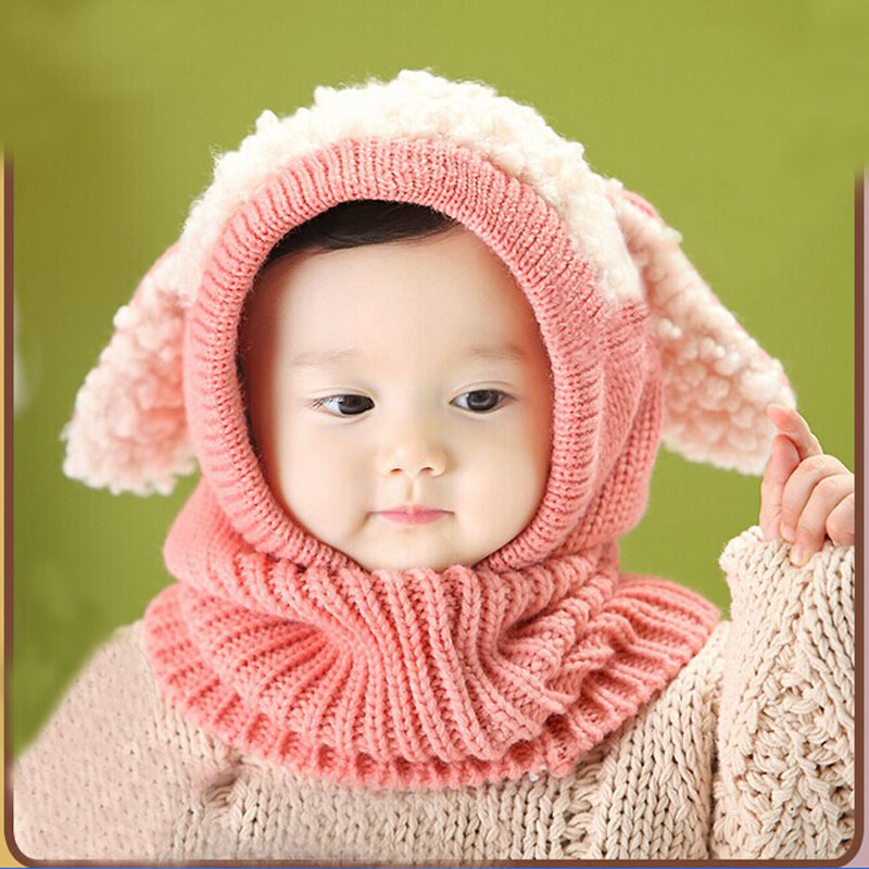 d595b7f8101 Children Hat Toddler Kids Baby Warm Winter Wool Hat Knit Beanie Fur Pom Pom Hat  Baby