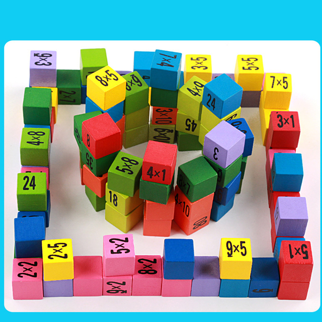 Arrival Educational Toys 99 Multiplication Table Math Toy 10*10 Figure Blocks Baby Toys Pupil Christmas Gift