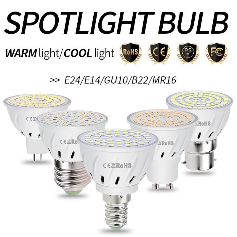 E14 LED Bulb GU10 Spotlight MR16 LED Lamp 220V E27 Corn Bulb 4W 6W Lampara GU5.3 SMD2835 Bombilla Gu 10 LED Spot Light Bulb B22