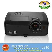 DH-8001 3D DLP 6000lumens Outdoor Projector Highlight Full HD1080P Video Proyector support 1920*1200 Built in Speaker Beamer